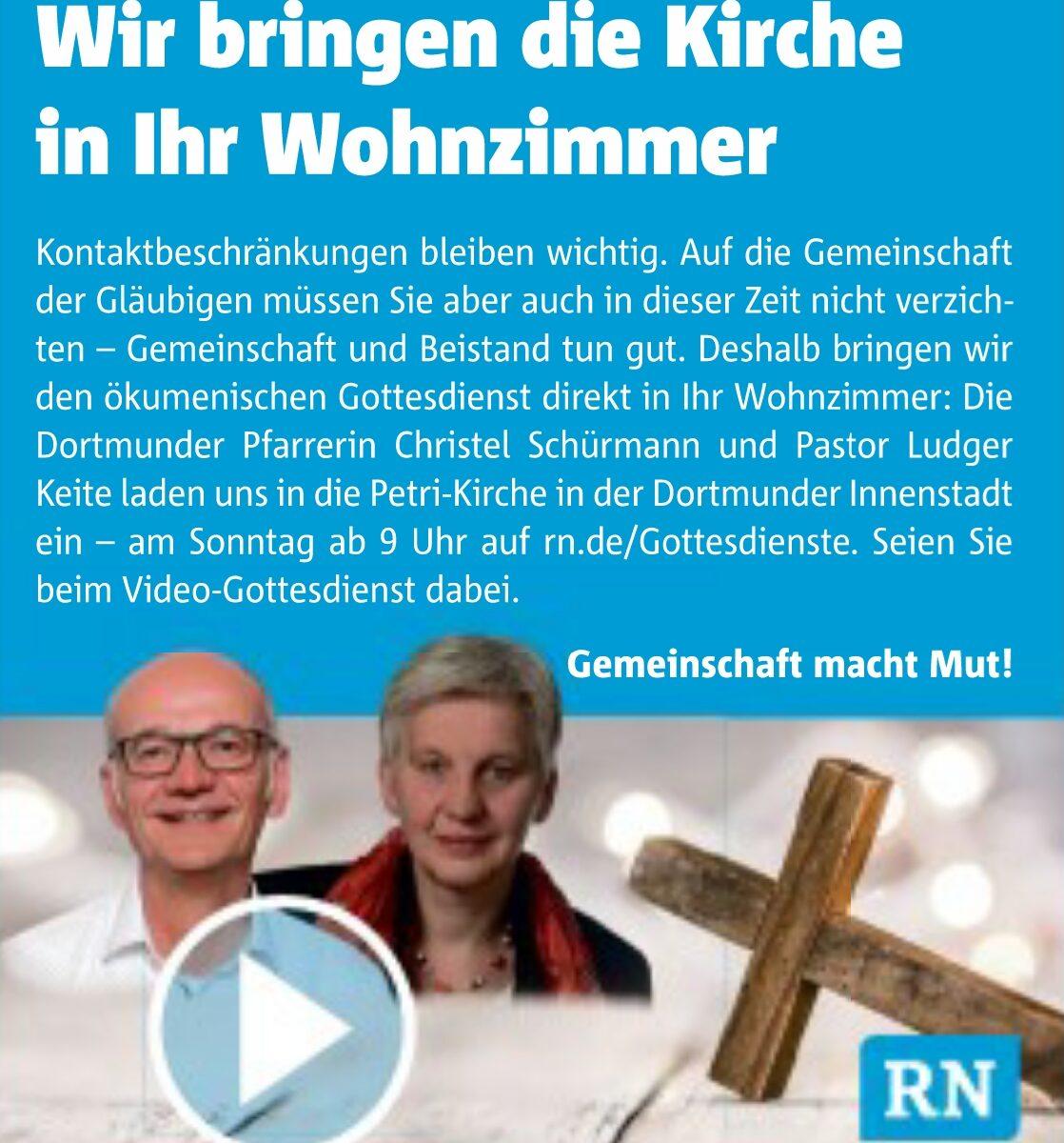 Pfarrer Ludger Keite und Pfarrerin Christel Schürmann